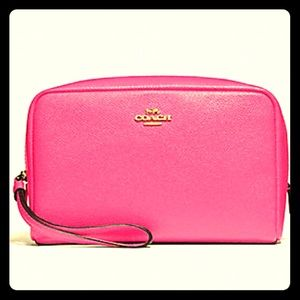 Coach Bags - Pink Ruby cosmetic case by Coach